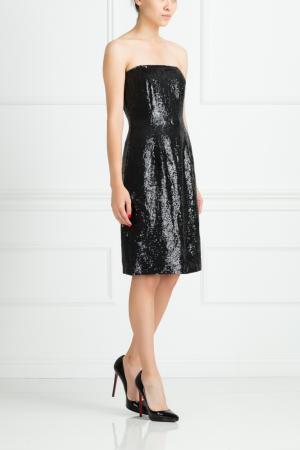 Шелковое платье Oscar de la Renta. Цвет: черный