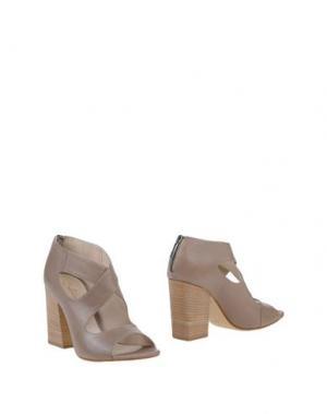 Ботинки SALVADOR RIBES. Цвет: голубиный серый