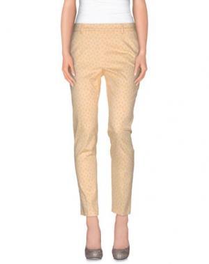 Повседневные брюки XANDRES. Цвет: светло-желтый