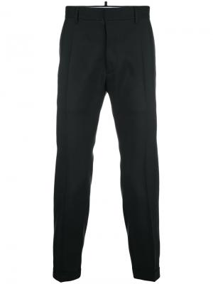 Cropped trousers Dsquared2. Цвет: чёрный