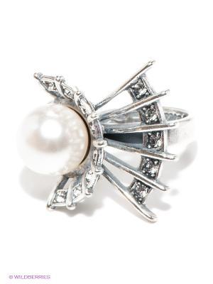 Кольцо Jenavi. Цвет: серебристый, белый