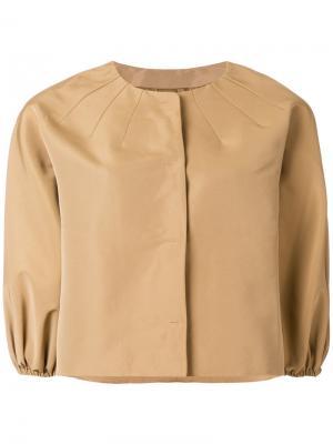 Пиджак с укороченными рукавами Red Valentino. Цвет: телесный
