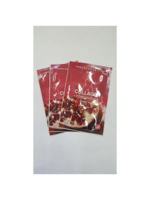 Набор тканевых масок (коллаген) Ampoule Mask Sheet , 3*18 мл Holika. Цвет: белый