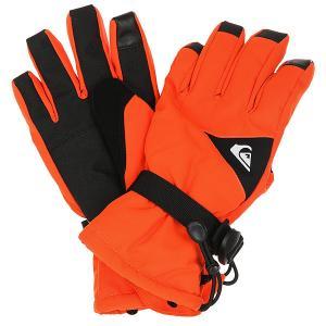 Перчатки детские  Mission You Mandarin Red Quiksilver. Цвет: темно-оранжевый