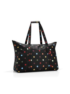 Сумка складная Mini maxi travelbag dots Reisenthel. Цвет: черный