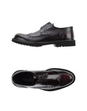 Обувь на шнурках MARIO LUISO. Цвет: баклажанный