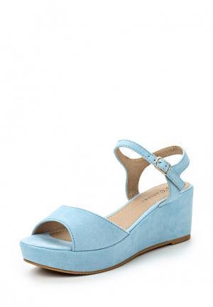 Босоножки Catisa. Цвет: голубой