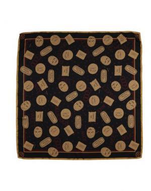 Платок OTTOD'AME. Цвет: темно-коричневый