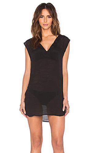 Туника alexa Salt Swimwear. Цвет: черный
