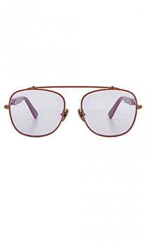 Солнцезащитные очки malcolm no middle 03 WESTWARD LEANING. Цвет: металлический медный