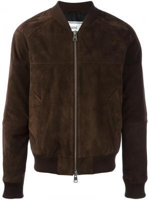 Куртка-бомбер с рукавами-реглан Ami Alexandre Mattiussi. Цвет: коричневый