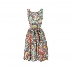 Платье без рукавов с рисунком RENE DERHY. Цвет: рисунок разноцветный