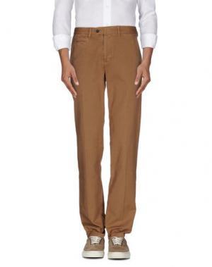 Повседневные брюки COTTON BELT. Цвет: хаки