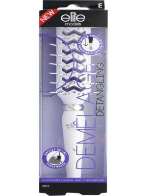 Карманная щетка для укладки волос ELITE.. Цвет: белый, серебристый, черный