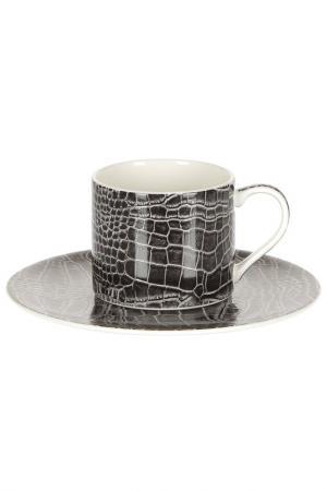 Набор 6 кофейных пар 100 мл Royal Bone China. Цвет: черный