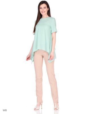 Блузка DEVORE. Цвет: морская волна, бирюзовый, светло-зеленый