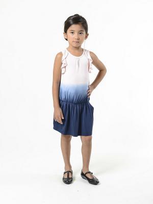 Платье Imoga. Цвет: темно-синий, розовый