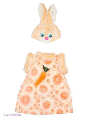 Карнавальный костюм Зайка Липси Батик. Цвет: рыжий
