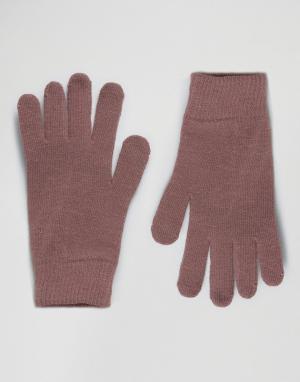ASOS Розовые перчатки для сенсорных гаджетов. Цвет: серый