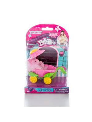 Beanzeez Игровой набор плюшевый  Львенок в коляске. Цвет: розовый