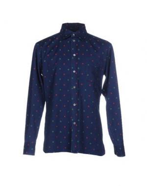 Джинсовая рубашка MAISON KITSUNÉ. Цвет: синий