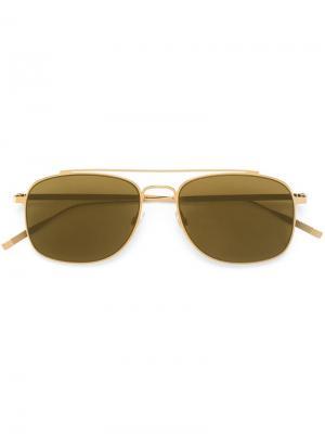 Солнцезащитные очки Tomas Maier. Цвет: металлический