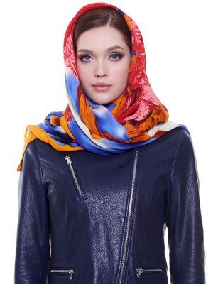 Платок Ribello. Цвет: синий, красный, оранжевый