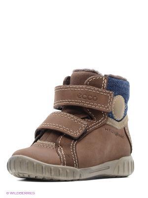 Ботинки ECCO. Цвет: коричневый, синий