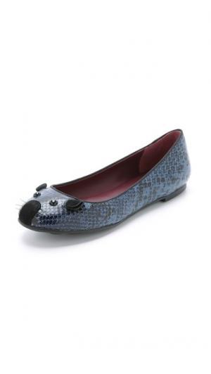 Обувь Constructed на плоской подошве в виде мышек Marc by Jacobs. Цвет: коричневый