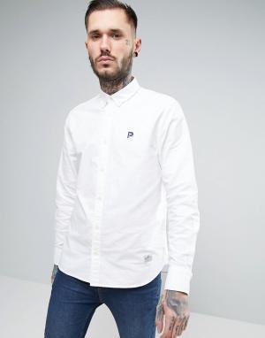Penfield Белая оксфордская рубашка классического кроя Porterville. Цвет: белый