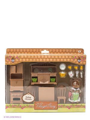 Кухня Gulliver. Цвет: коричневый
