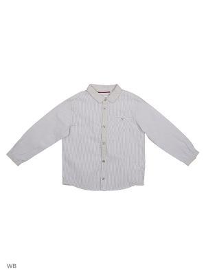 Рубашка WonderKids. Цвет: серый