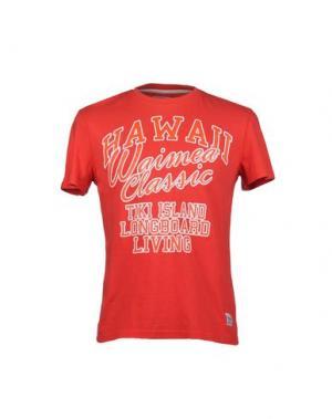 Футболка WAIMEA CLASSIC. Цвет: красный