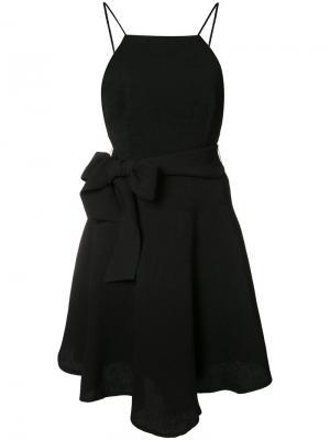 Расклешенное платье с бантом C/Meo. Цвет: чёрный
