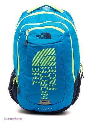 Рюкзак The North Face. Цвет: голубой, салатовый
