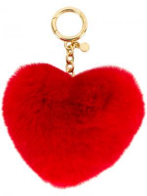 Брелок в форме сердца Michael Kors. Цвет: красный