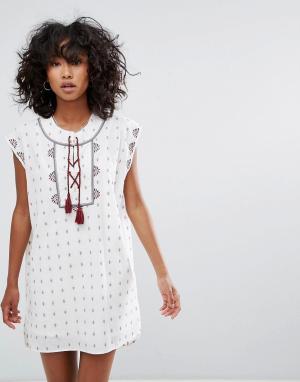 D.RA Платье-туника Venice. Цвет: белый