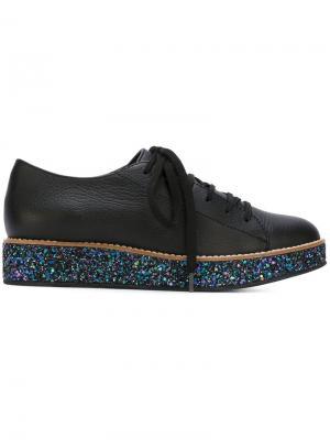 Туфли на шнуровке Boulevard Minimarket. Цвет: чёрный