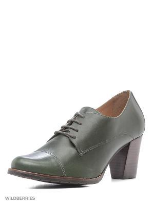 Туфли INDIANA. Цвет: темно-зеленый
