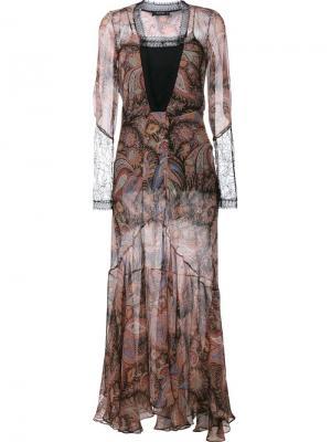 Вечернее платье с принтом пейсли Etro. Цвет: чёрный