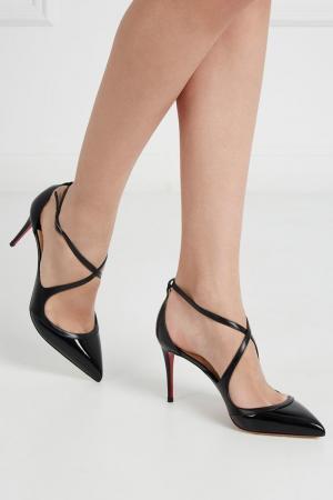 Кожаные туфли Crissos 85 Christian Louboutin. Цвет: черный