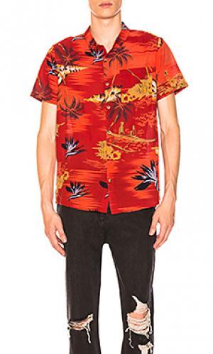 Рубашка bon ROLLAS ROLLA'S. Цвет: красный