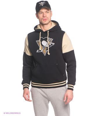 Худи NHL Penguins Atributika & Club. Цвет: черный, бежевый