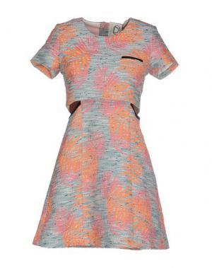 Короткое платье DRESS GALLERY. Цвет: зеленый