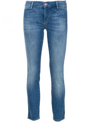 Укороченные джинсы Mih Jeans. Цвет: синий
