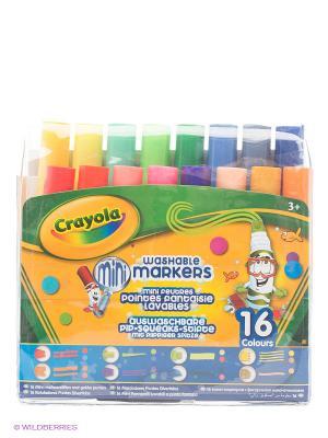 Набор мини фломастеров с узорными наконечниками Crayola. Цвет: желтый