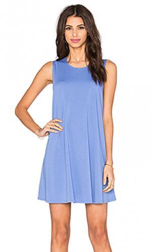 Платье с юбкой-солнце Bishop + Young. Цвет: синий