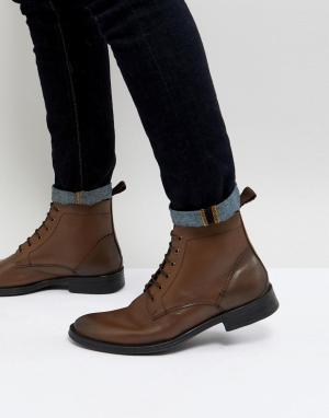 Dead Vintage Коричневые ботинки со шнуровкой. Цвет: коричневый