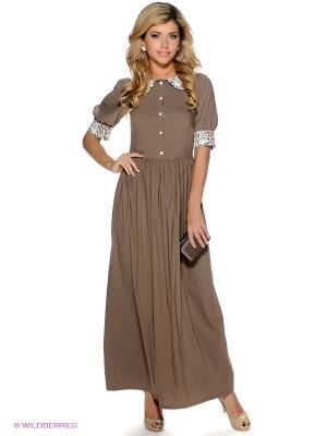 Платье Наталья Новикова. Цвет: коричневый