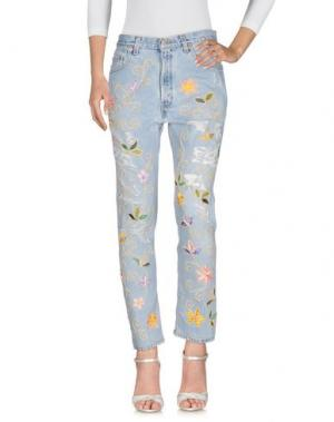 Джинсовые брюки HISTORY REPEATS. Цвет: синий
